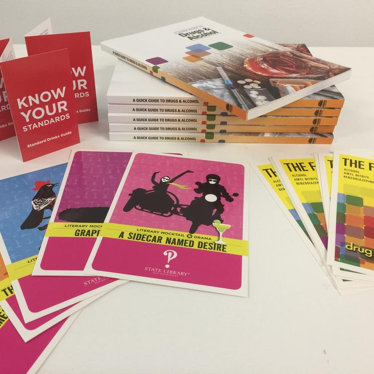 Examples of Drug Info promotional material