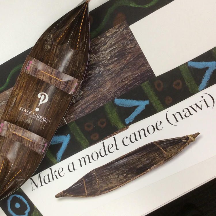 Image of a paper canoe - nawi