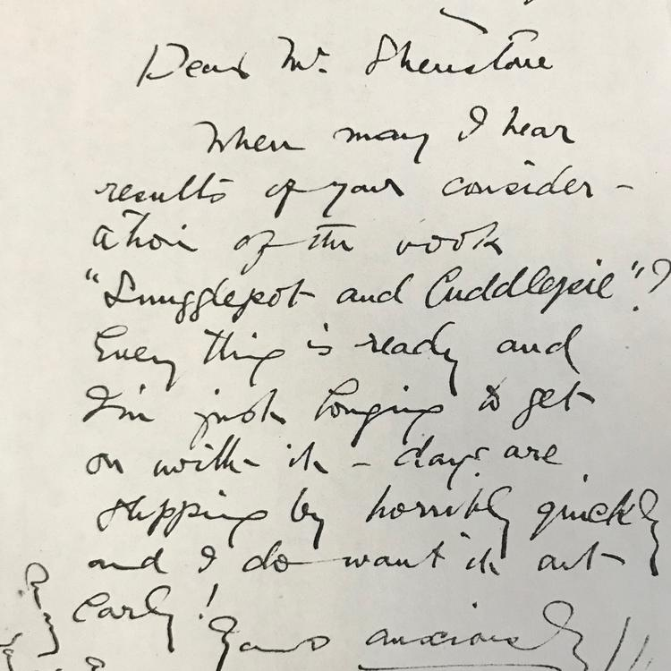 Handwritten letter with large scrawling writing, dated 1917.