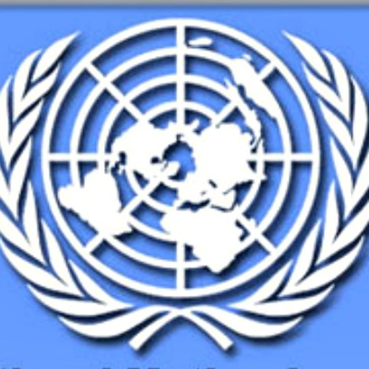 International Mother Language Day logo: white image on blue background