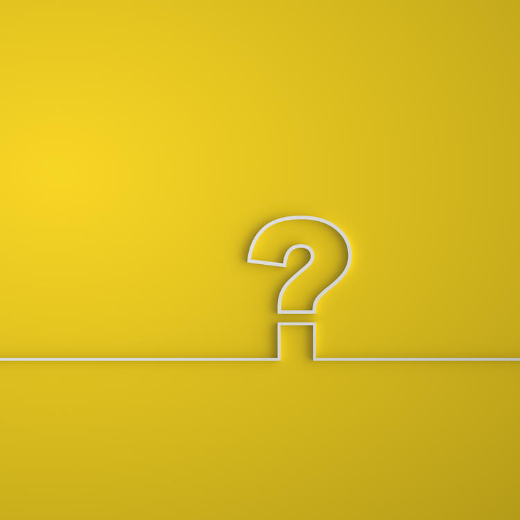 Yellow background with a question mark