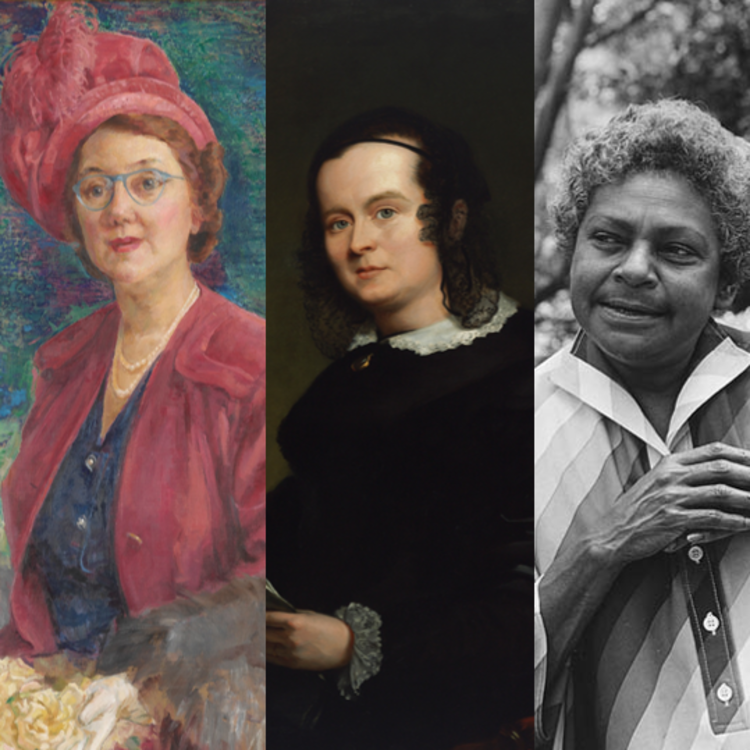 portraits of five women