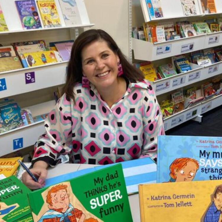 Author Katrina Germein signing books