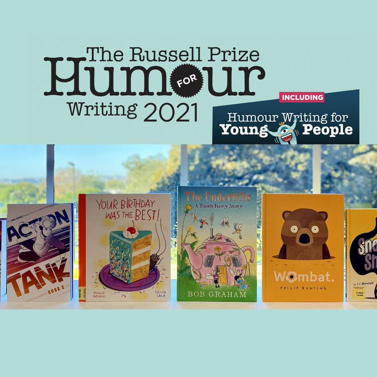 The Russell Prize for humour writing banner 2021