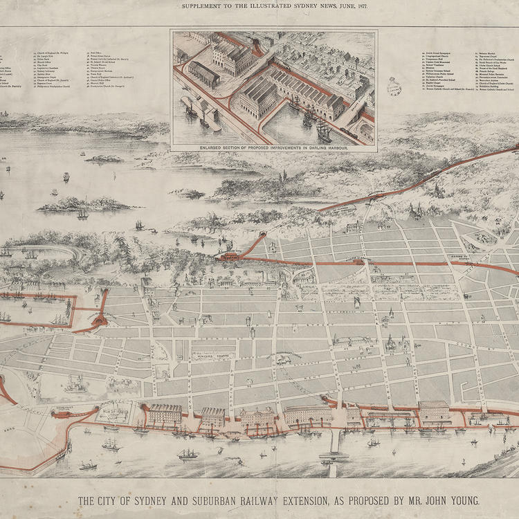 Mr John Young's 1877 proposed 'City of Sydney and Suburban Railway Extension
