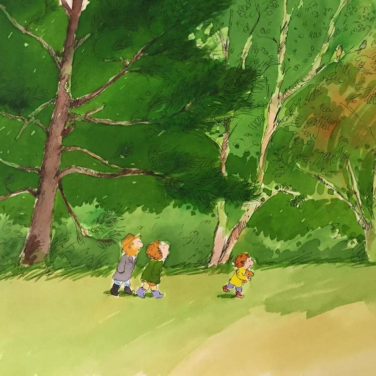 Bob Graham's original artwork from 'The Wild'