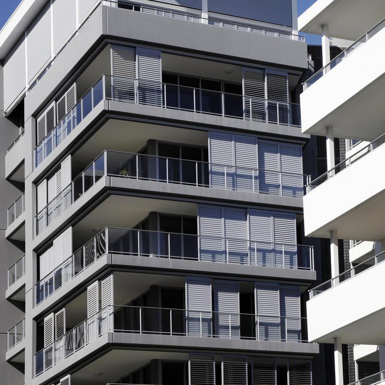 Multi floor apartment block
