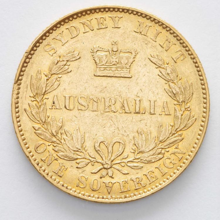 Sovereign, 1855, Sydney Mint, Sir William Dixson Collection