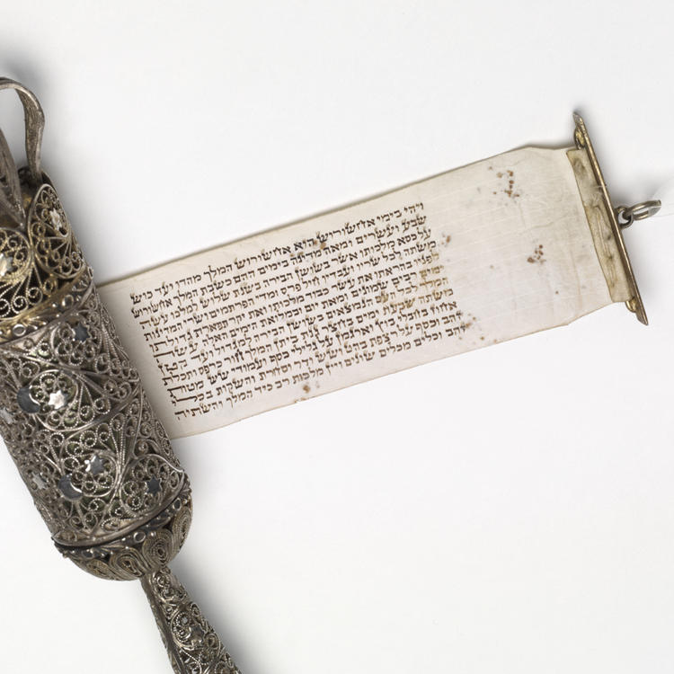 Large silver scroll