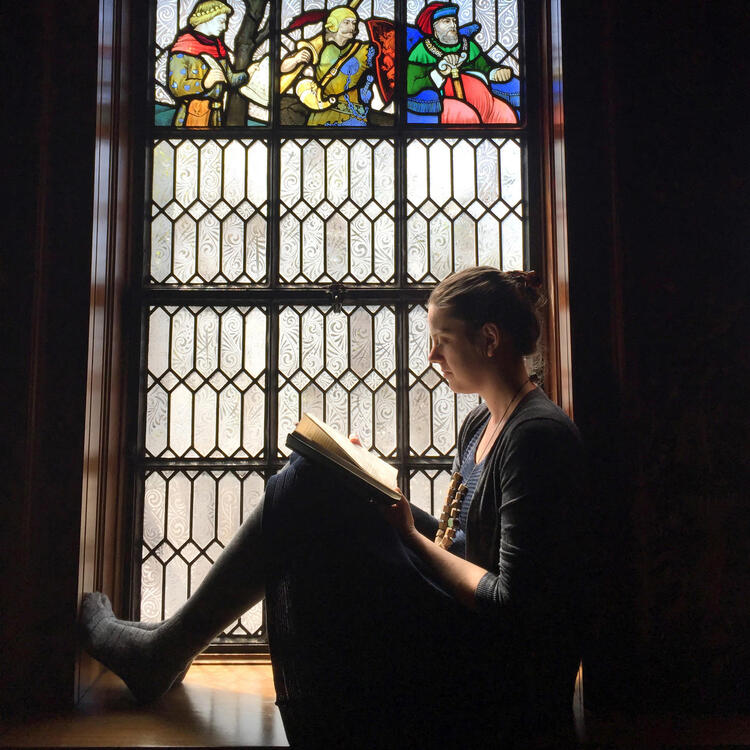 Reader in the Shakespeare Room