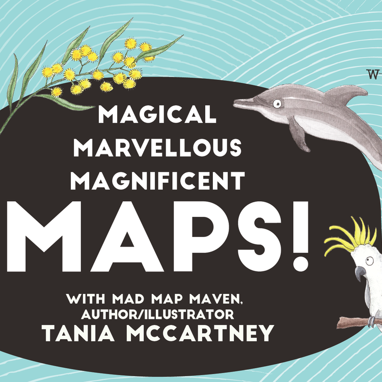 An illustration of the map of Australia as drawn by author Tania McCartney