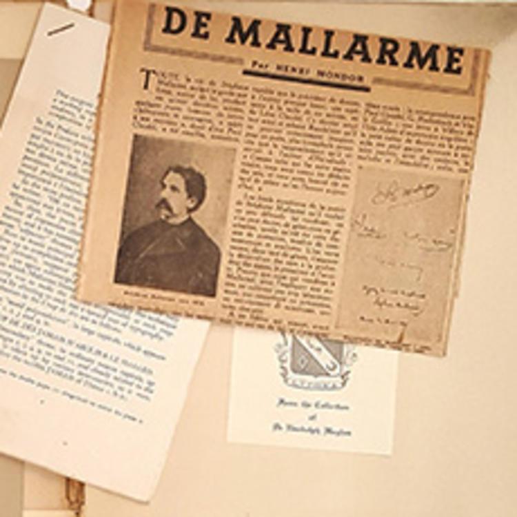 Front Matter: un coup de dés jamais n'abolira de hasard, par Stéphane Mallarmé, Ed́itions de la Nouvelle revue française, 1914, State Library of New South Wales RHQ/1003