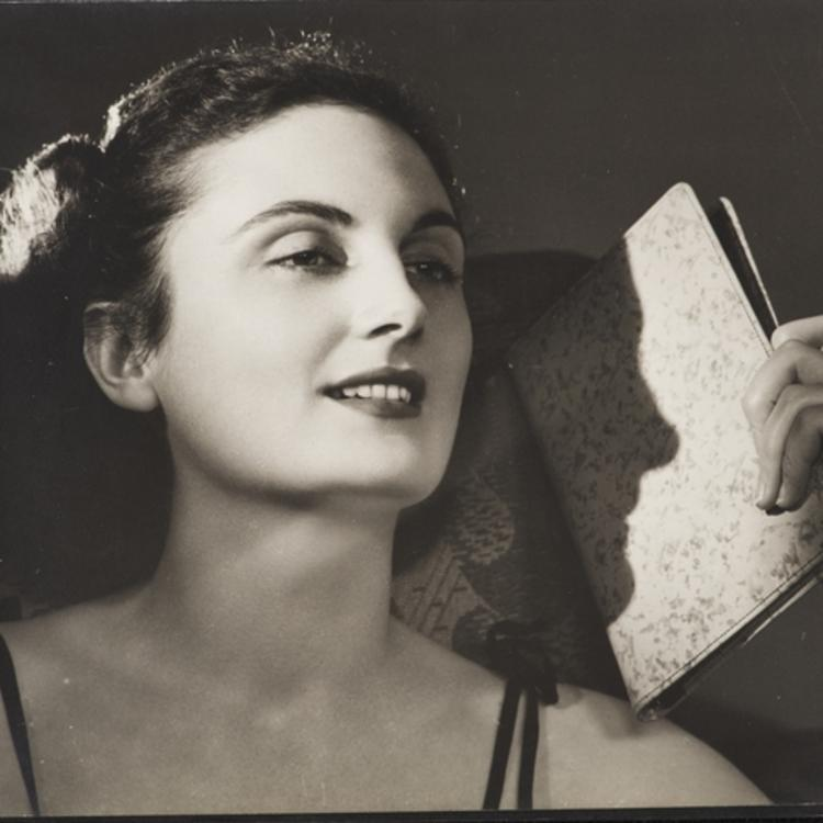 Black and white photograph of Marie Cotter 1937