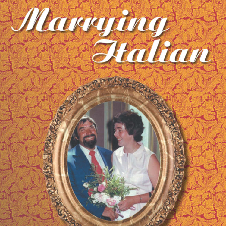 Couple on their wedding day with woman holding a bouquet of flowers on book cover of Marrying Italian When Love is Not Enough by Vivien Achia