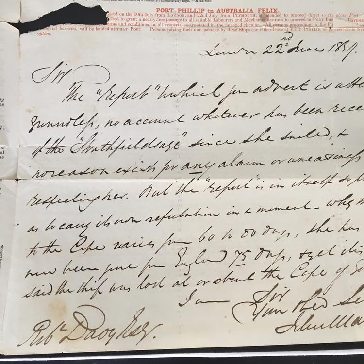John Marshall handwritten note