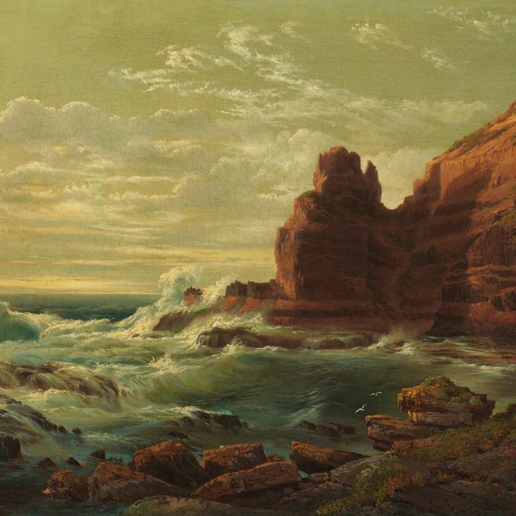 Castle Rock, Cape Schanck, Victoria, 1865 / by Nicholas Chevalier