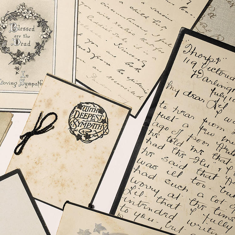 Collection of condolence letters.