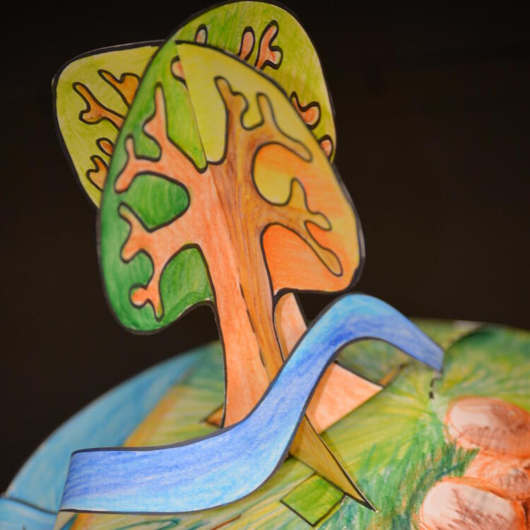 A paper sculpture