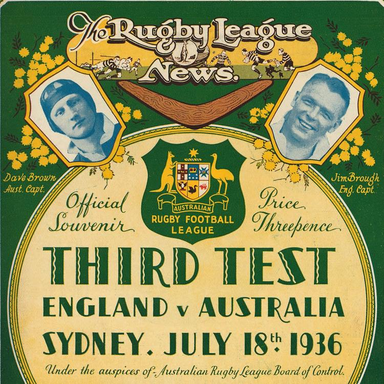 Cover of Rugby League News, 18 July 1936