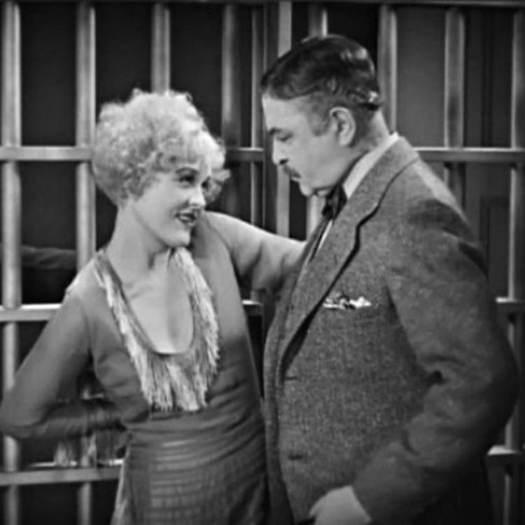 Black and white film still from the 1927 movie Chicago
