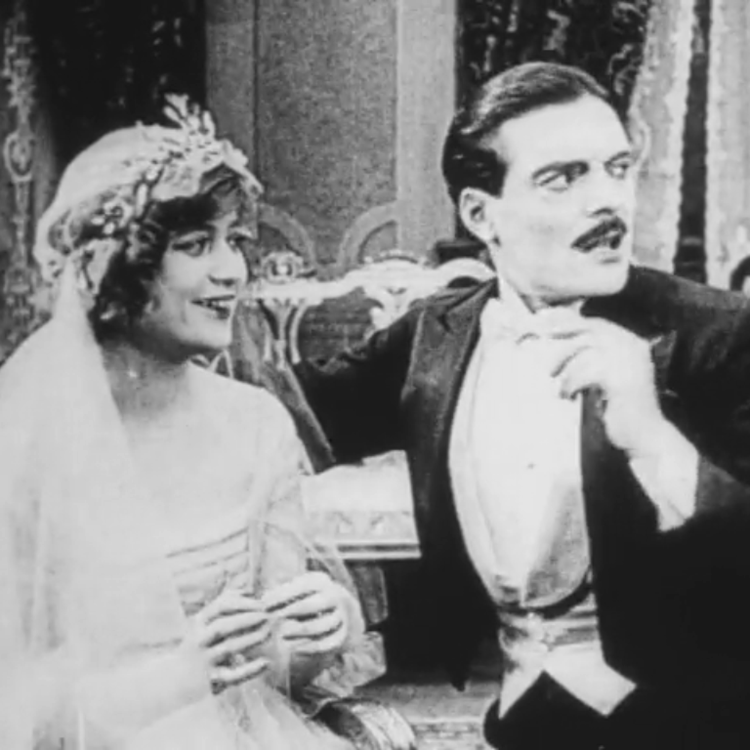 Black and white film still from the movie Max Wants a Divorce