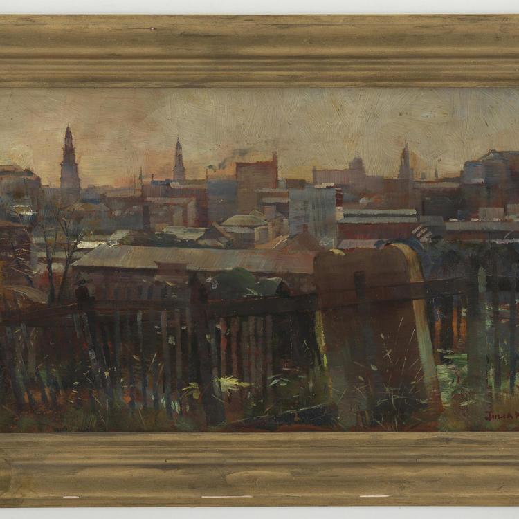 Old Cemetry Devonshire St, Julian Ashton 1894