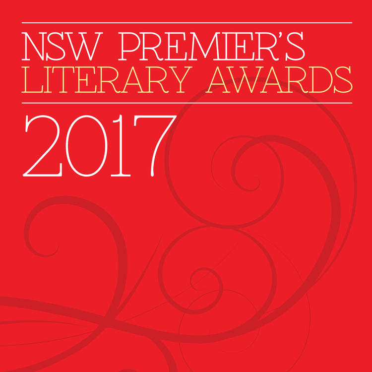 Premiers literary awards 2017 logo on red background
