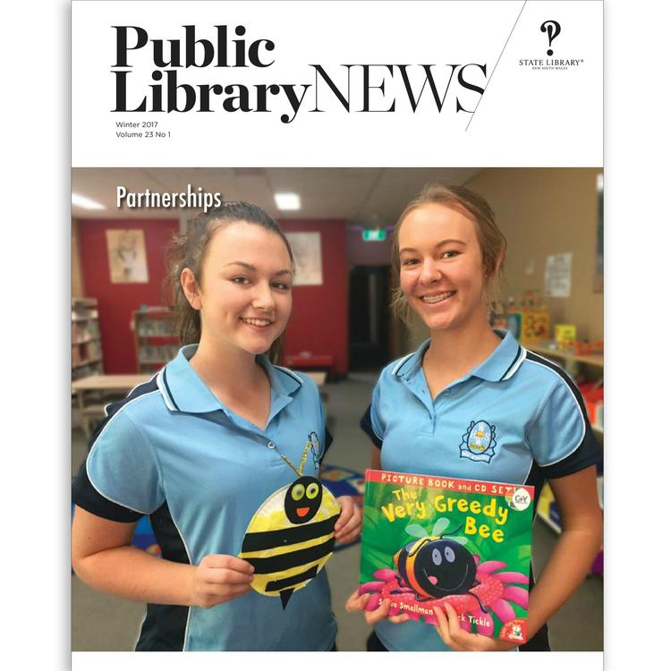 Front cover of Winter 2017 issue of Public Library News