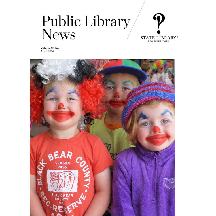 Children wearing clowns' noses on magazine cover