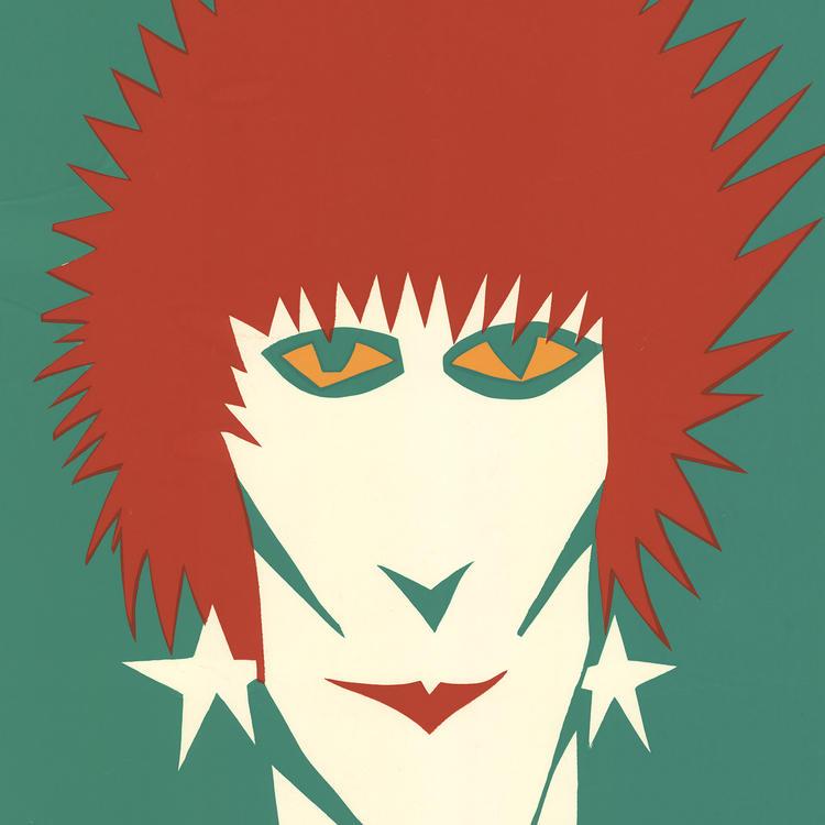 Silk screened coloured poster of a punk rocker - NIMROD