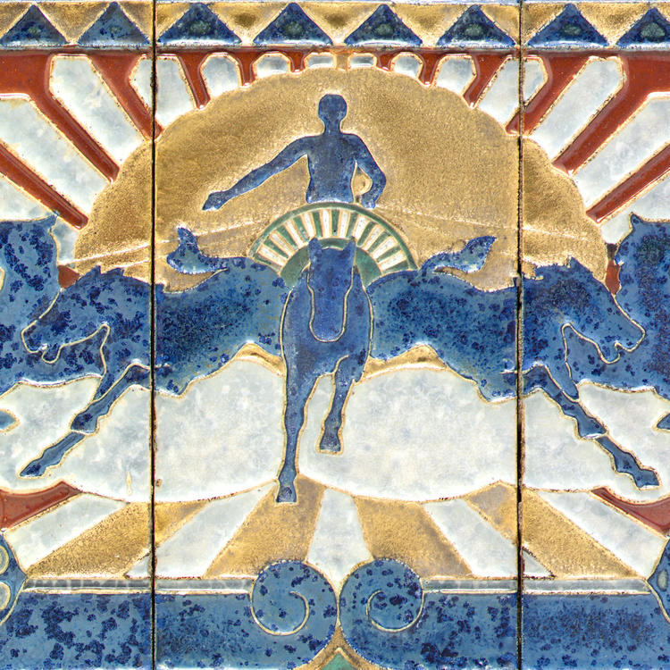 Tiles from the Sun Newspapers Ltd building, Sydney, c 1929, designed by Donald Bain