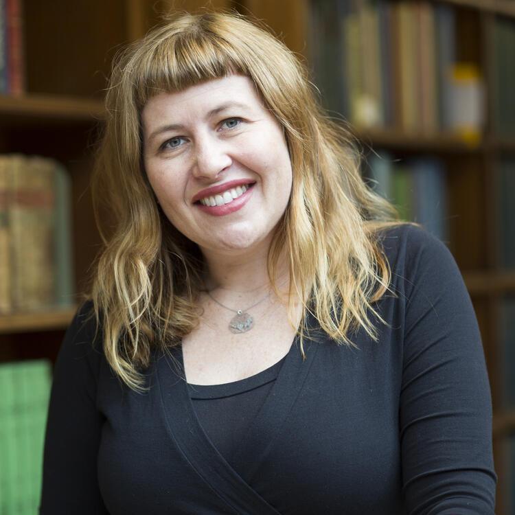 Photograph of curator Sarah Morley