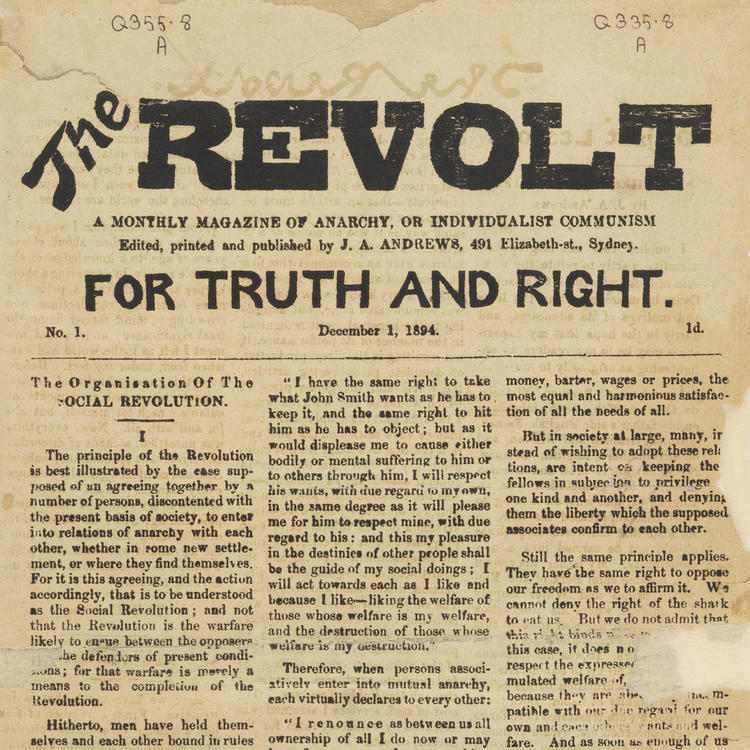 Revolt Newspaper from 1894
