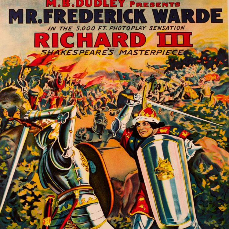 Richard III film cover of king and knight sword fighting