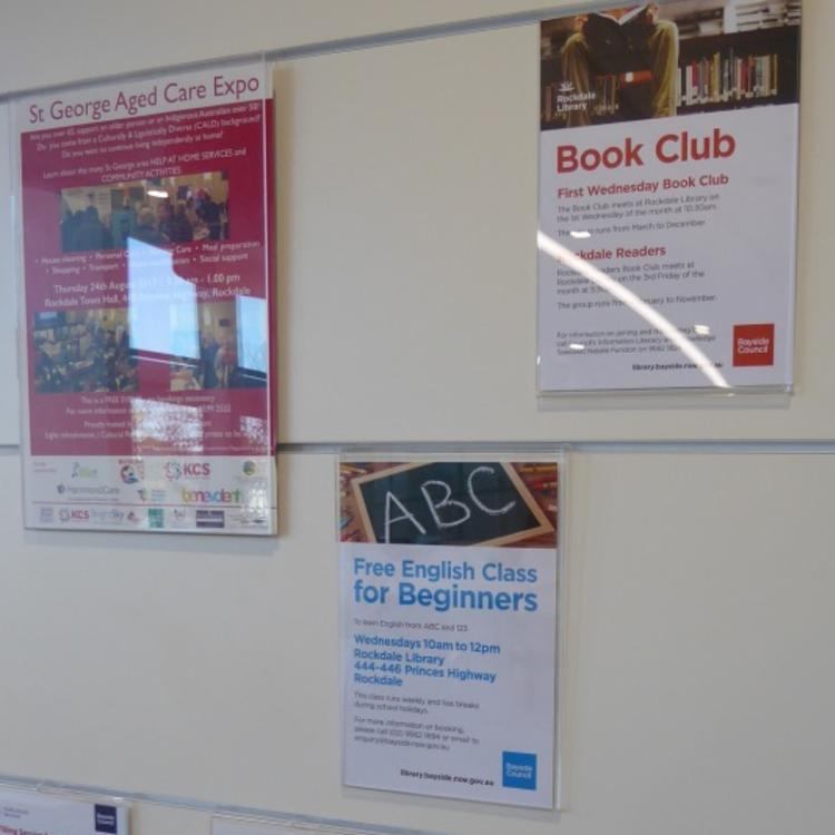 Rockdale Library program posters