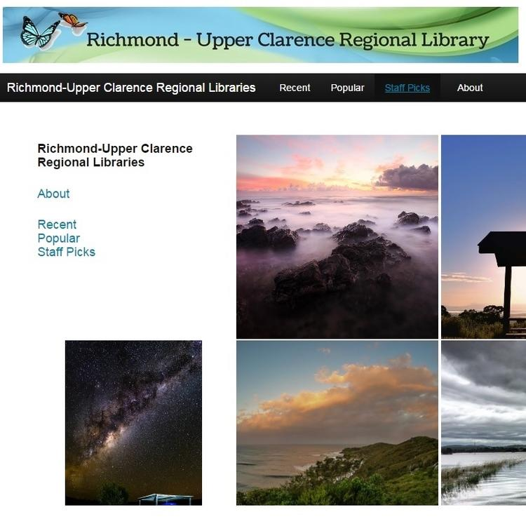 screen shot of social media collecting from Richmond Upper Clarence Regional Library