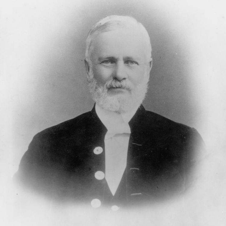 grey scale image of John Ewen Davidson