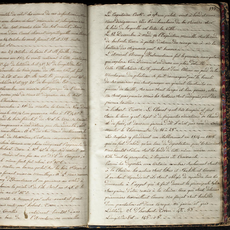 Manuscript journal of the voyage of the Astrolabe by Seurin
