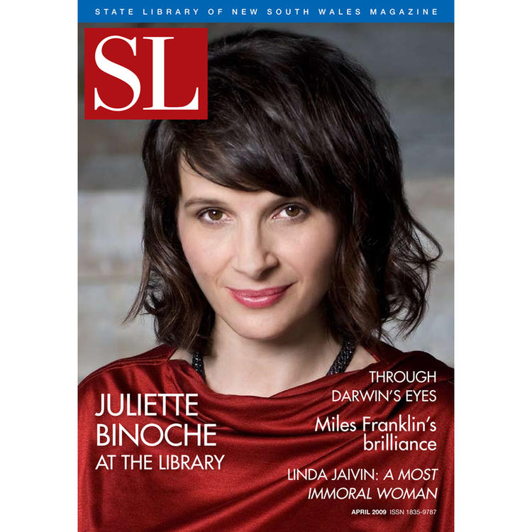Actress Juilette Binoche on the cover of State Library of New South Wales Magazine