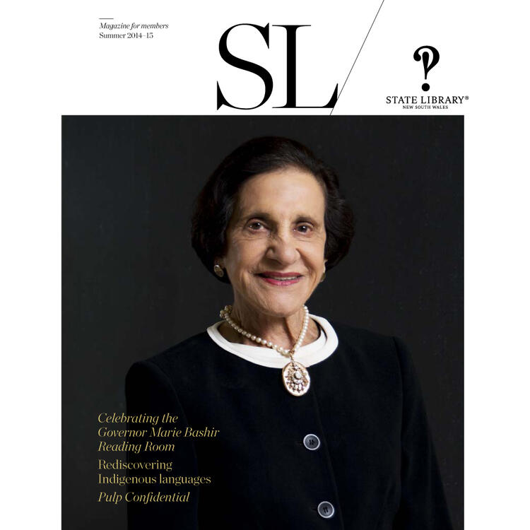 Dame Marie Roslyn Bashir AD, CVO  on cover of Summer 2014-2015 New South Wales State Library Magazine