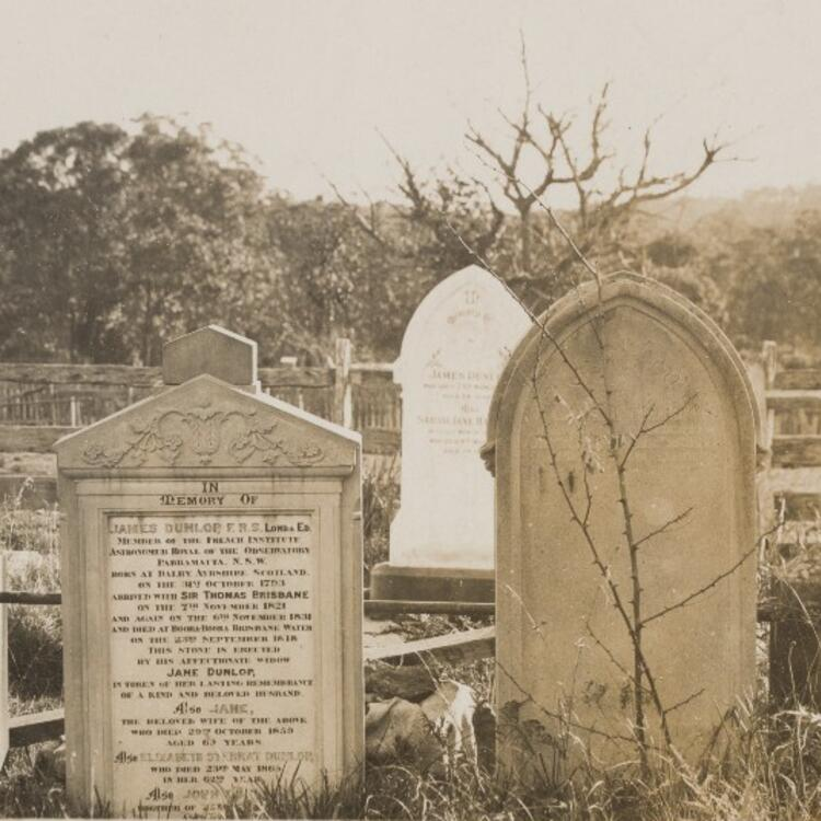 Grave of James Dunlop, St Paul's, Kincumber, c 1900s
