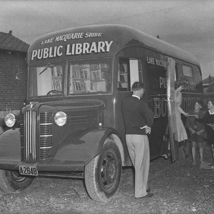 Mobile library, by Sam Hood, c 1950