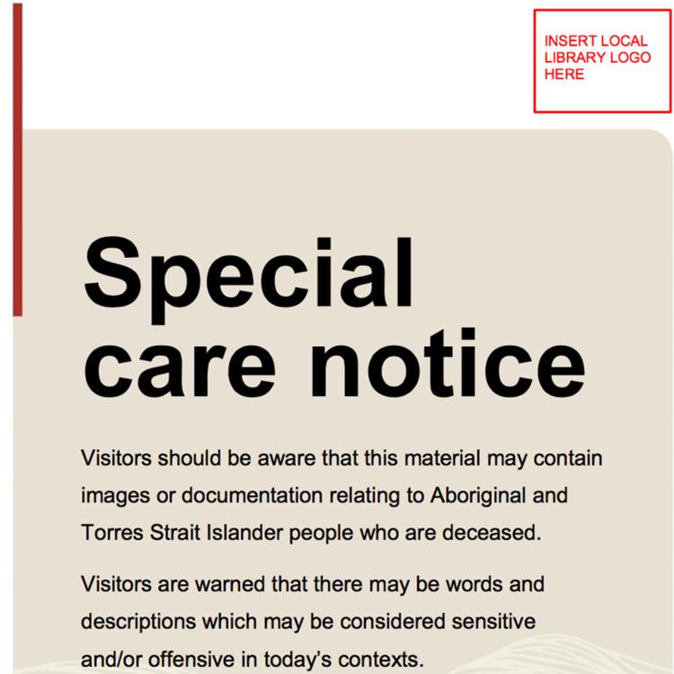 Special Care Notice