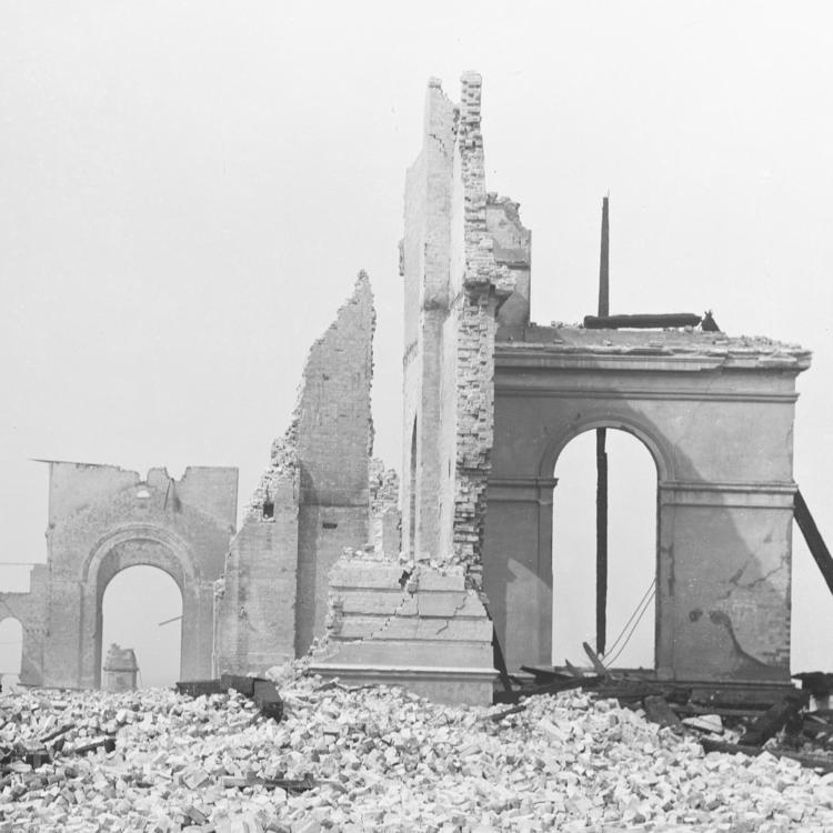 Garden Palace ruins after fire 1882
