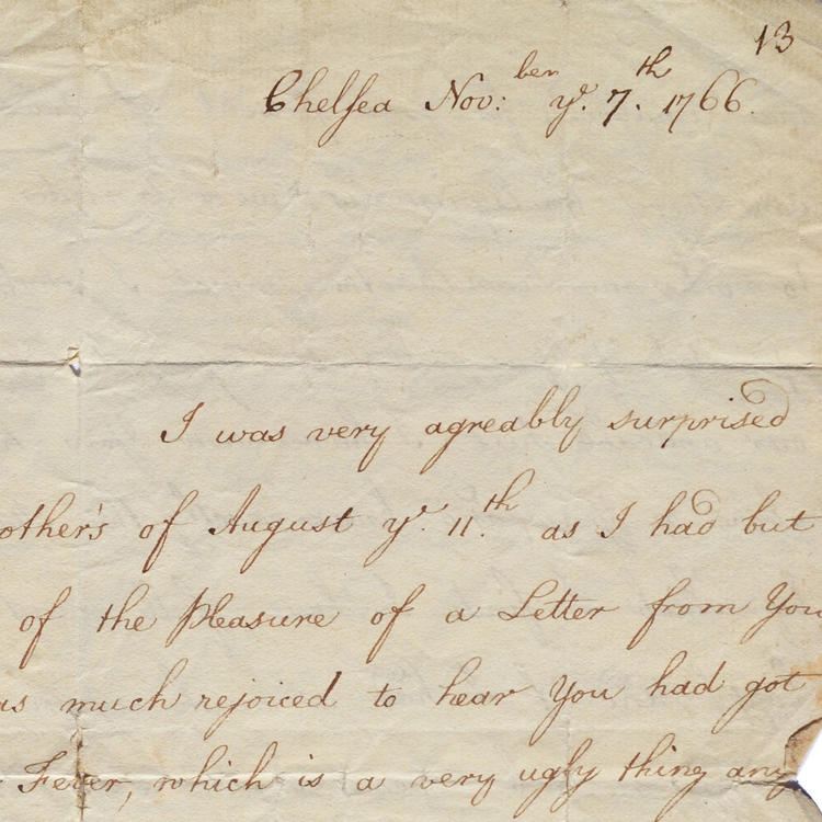 First page of Sarah Sophia Banks' letter to her brother Joseph