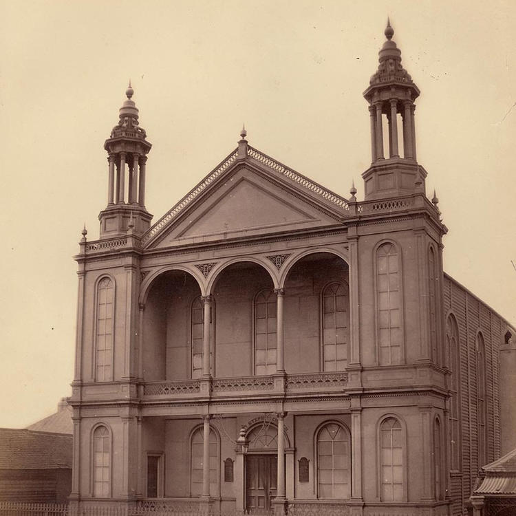 St Stephen's Church, Iron Church, Macquarie Street, Sydney, 1871,