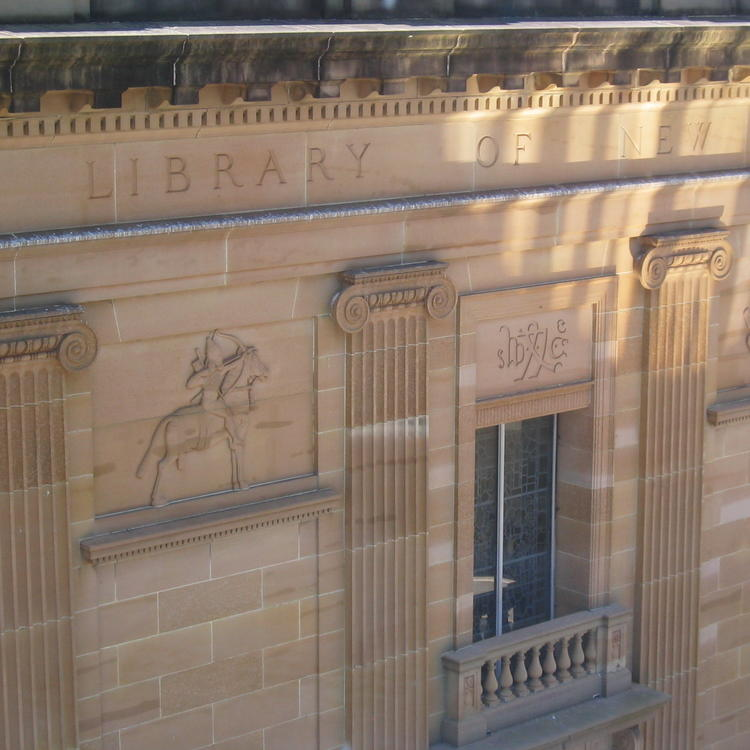 sandstone exterior of the State Library of NSW