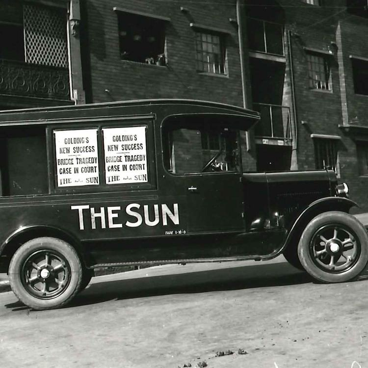 The Sun delivery truck