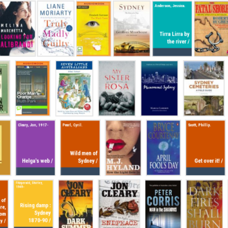 Rows of book covers