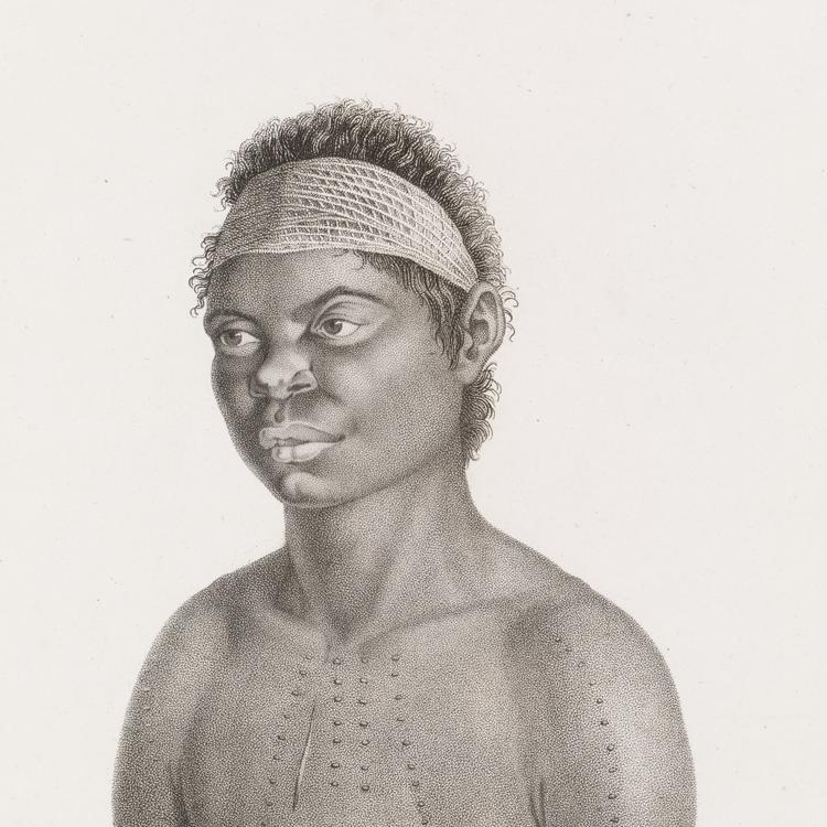 Drawing of Aboriginal woman